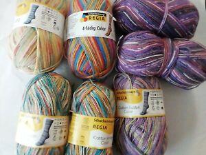 Sockenwolle Schachenmayr Regia Cotton knapp 700 Gramm 4 fädrig / Kolibri Color