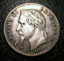 OLD FRANCE COINS 1867 BB 50 Centimes Silver Coin Napoleon III