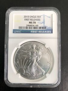 2015 -$1 FIRST RELEASES NGC-MS-70  RARE