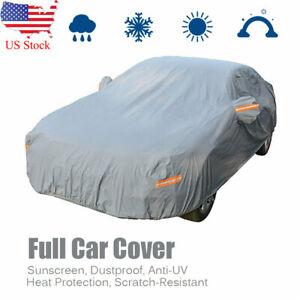 Full Car Cover Waterproof Breathable Sun UV Dust Rain Snow Resistant Protection