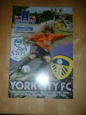 2001/2 YORK CITY V LEEDS UNITED & SHEFFIELD WEDNESDAY  PRE-SEASON FR