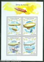 SAO TOME  2014  AIRSHIPS/ZEPPELINS  OF THE WORLD SHEET MINT NH