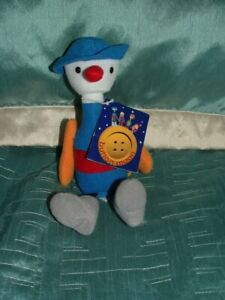 """BUTTON MOON MR SPOON MUSICAL 9"""" PLUSH SOFT TOY BY GOLDEN BEAR TAGGED"""