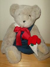 The Vermont Teddy Bear Co. Plush Stuffed Girl Bear with Flowers and a Bow