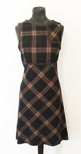 Burberry London Brown Plaid taille Robe UK 8