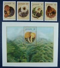 Grenada 1986 Pilze Funghi Mushrooms 1491-94 + Block 162 Postfrisch MNH