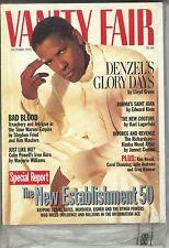 Vintage Vanity Fair Mag Oct 1995 Top story Denzel Still in Plastic