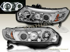 Fit 2006 2007 2008 HONDA CIVIC COUPE  DUAL CCFL HALO PROJECTOR HEADLIGHTS CLEAR
