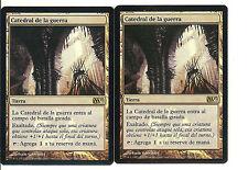 mtg Magic 2x Cathedral of War ( Catedral de la guerra ) FOIL PROMOS Spanish NM-