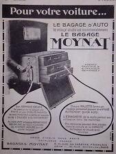 PUBLICITÉ 1923 MOYNAT CHAQUE MALETTE FORME UN BAGAGE D'AUTO LE MIEUX ÉTUDIÉ