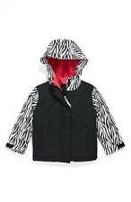 Roxy Girls Minishred No Dice Snowbard Jacket (3T) Zebra