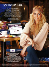Nicole Richie 1-page clipping 2011 ad for Yahoo Mail