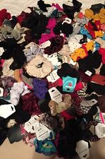 50 HAIR SCRUNCHIES-VARIOUS COLORS AND STYLES, VARIOUS BRANDS INCLUDING CLAIRE'S