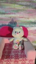 """CARE BEARS TRUE HEART BEAR 9"""" 2004 PASTEL HEART PINK NOSE PLUSH TOY LOVEY BABY ❤"""