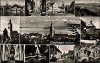 Überlingen Bodensee s/w Mehrbild AK 1960 Franziskaner Tor Münster Hänsle Brunnen