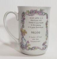 "Precious Moments 1990 Porcelain Coffee Mug Tea Cup With Name "" HELEN """