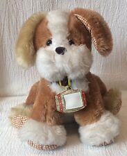 Vintage Avon Plush Sitting Puppy Dog 1990 Brown & Tan