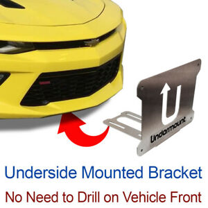 UNDER MOUNT LICENSE PLATE BRACKET tag frame mounting holder no drill  front Chev