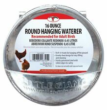 Little Giant Hangable Poultry Waterer Galvanized Round Hanging Poultry Watere