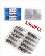 1000pcs Stainless Steel Screws 1.6-5.5mm Micro Eyeglass Watch Repair Tool Kit