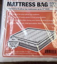 "King Size Mattress Bag fits Pillow Top up to 17"" thick Storage Moving Protection"