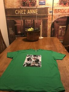 New YSL T-Shirt  100% Cotton Color Green  Size XL
