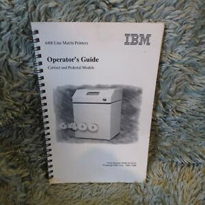 IBM 6400 Line Matrix Printer Operator's Guide, 90 pp, 1996