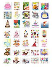 Personalized Return Address labels Birthdays Cakes Buy 3 get 1 free{bir3}