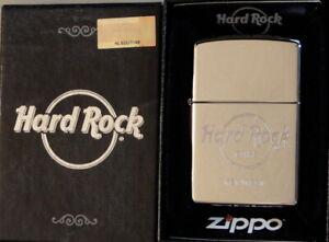 Hard Rock Cafe KEY WEST 2017 Silver Chrome Guitar ZIPPO Lighter New Box +Sticker