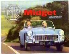 MG Midget MkI 1098cc 1963-64 UK Market Sales Brochure