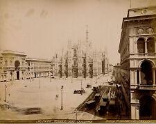 MILANO c. 1875 - 2 Photos Bosetti Piazza del Duomo Cattedrale Italie - 14