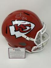 TRAVIS KELCE Signed Chiefs SB LIV Champ Logo Full Size Speed Helmet FANATICS
