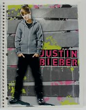 Justin Bieber  - Gray Hoodie NOTEBOOK 2011 - 70 Wide Ruled Sheets  - NEW