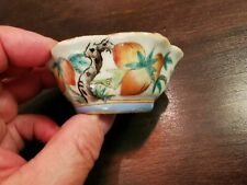 Small China Chinese Qing Dynasty Famille Rose Porcelain Cup w/ 9 Peaches