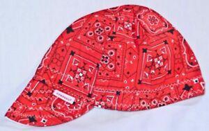NWT 1 Comeaux Caps Welding Welders Hat BANDANA Reversible Black Blue Grey Red