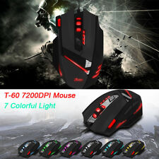 ZELOTES T60 7200DPI Professional USB Wired Optical 7 Buttons Gaming Mouse Mice