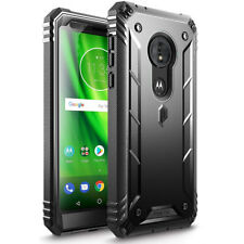 For Moto G6 Play Case Poetic Revolution Series Heavy Duty Full Body Cover Black