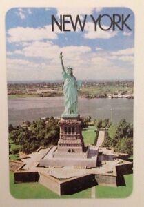 Vintage New York USA Statue Of Liberty Souvenir Swap Card Playing Card