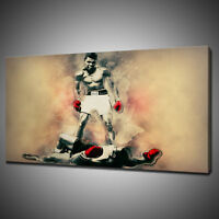 MUHAMMAD ALI SONNY LISTON CANVAS PICTURE PRINT WALL HANGING ART HOME DECOR