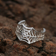 web classic ring 925 SP wrap open women gift jewellery resizeable thumb spider