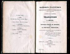 Oegger Rapports inattendus mondes matériel et spirituel E. Lévi Swedenborg Rare