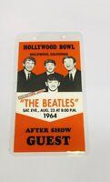 1964 Beatles Hollywood Bowl California Backstage Pass