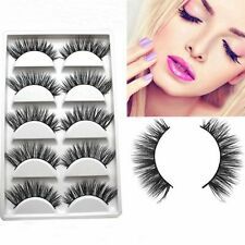 5Pairs False Criss Cross Eyelashes Long Thick Wispy Natural Fake Lashes AU SELER