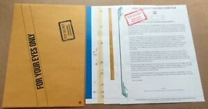 1983 JAMES BOND 007 Victory Role Playing Game rpg  OCTOPUSSY BRIEFING DOSSIER tb