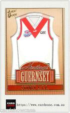 2004 Select AFL Ovation Heritage Guernsey Picture Card HJ13 Sydney