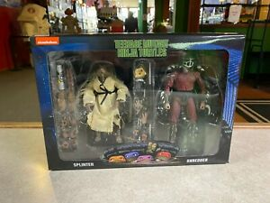 2020 NECA TMNT Mutant Ninja Turtles Splinter vs Shredder 1990 Movie Walmart NIB