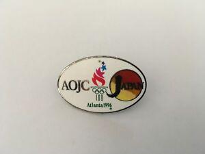 1996 ATLANTA OLYMPIC MEDIA PIN BADGE JAPANESE TV PINS