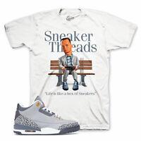 Shirt Match Jordan 3 Cool Grey Grpahite Retro Shoes - Cheers Bear Tee