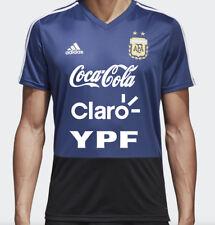 Adidas AFA 2018 Argentina LARGE Training Shirt Blue with YPF Sponsor
