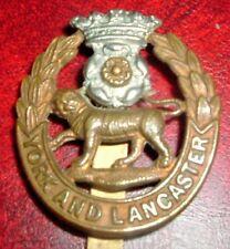 CAP BADGES-ORIGINAL WW1/WW2 YORK AND LANCASTER REGIMENT